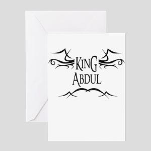 King Abdul Greeting Card