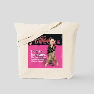 Human Furniture Tote Bag
