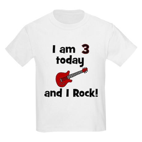 I am 3 today and I Rock! Gui Kids Light T-Shirt