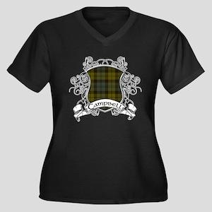 Campbell Tar Women's Plus Size V-Neck Dark T-Shirt
