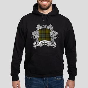 Campbell Tartan Shield Hoodie (dark)