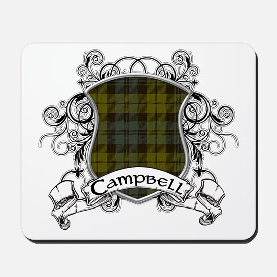 Campbell Tartan Shield Mousepad