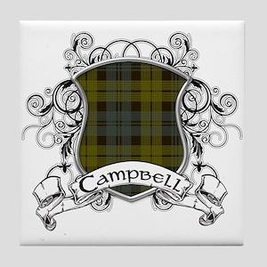 Campbell Tartan Shield Tile Coaster