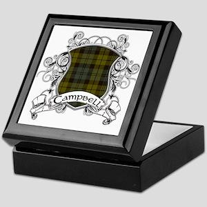 Campbell Tartan Shield Keepsake Box