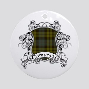 Campbell Tartan Shield Ornament (Round)