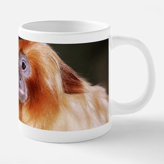 golden lion tamarin-zoo 20 oz Ceramic Mega Mug