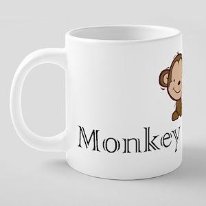 2-monkey business 20 oz Ceramic Mega Mug