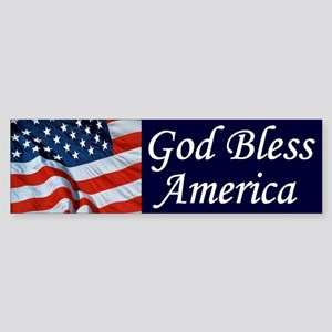God Bless America Bumper Sticker