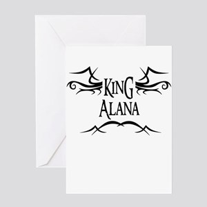 King Alana Greeting Card
