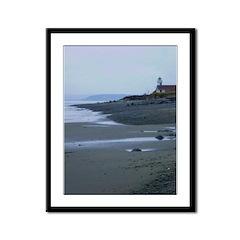 Lighthouse Dawn Framed Panel Print