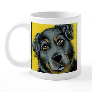 Rottweiler Angel Drinkware Cafepress