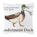 I. Duck QQSQQ Woven Throw Pillow