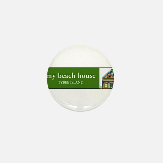 My Beach House on Tybee mug Mini Button