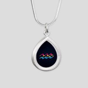 Pansexual Pride Flag Aquarius Zodiac Sig Necklaces