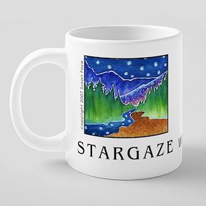 STARGAZE mugTEXT 20 oz Ceramic Mega Mug