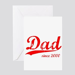 Dad since greeting cards cafepress dad since 2000 greeting card m4hsunfo