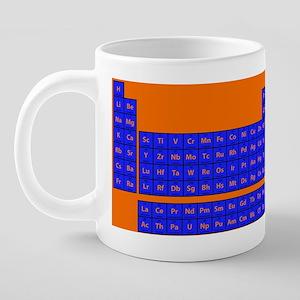 Periodic Table - Orange/Blu 20 oz Ceramic Mega Mug