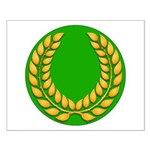 Green with Gold Laurel Small Poster