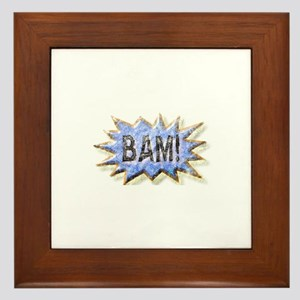 BAM! Distressed look Emeril Framed Tile