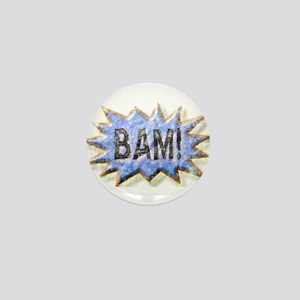 BAM! Distressed look Emeril Mini Button