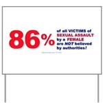 Sexual Assault by Females Yard Sign