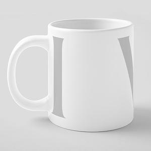 IVIBlkGrayLt 20 oz Ceramic Mega Mug