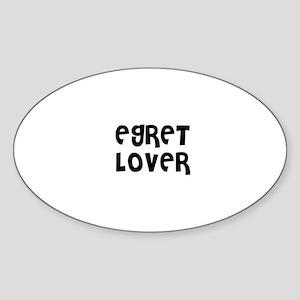 EGRET LOVER Oval Sticker