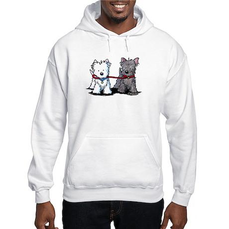 Walking Buddy Terriers Hooded Sweatshirt
