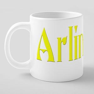 arlington funky black 20 oz Ceramic Mega Mug