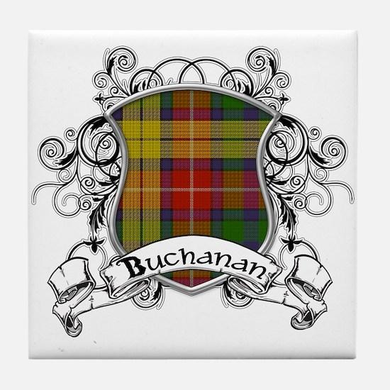 Buchanan Tartan Shield Tile Coaster
