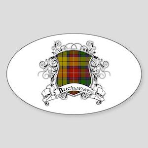 Buchanan Tartan Shield Sticker (Oval)
