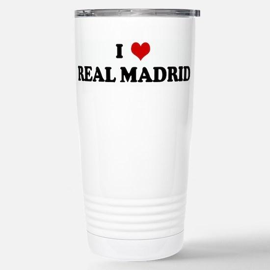 I Love REAL MADRID Stainless Steel Travel Mug