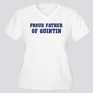 Proud Father of Quintin Women's Plus Size V-Neck T
