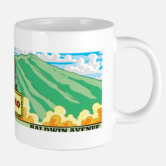 makawao-baldwin ave-map-col 20 oz Ceramic Mega Mug