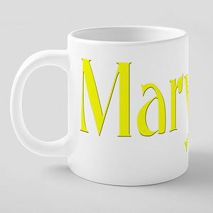michigan funky black 20 oz Ceramic Mega Mug