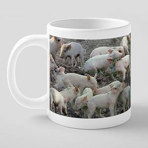 pig mug 20 oz Ceramic Mega Mug