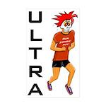 Run Zomie Run Ultra Rectangle Sticker 10 pk)