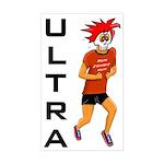 Run Zombie Run Ultra Rectangle Sticker