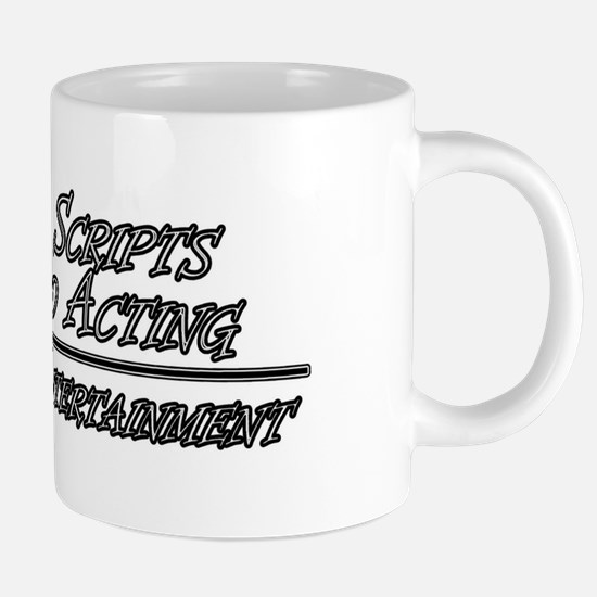 scripts and acting 2.png 20 oz Ceramic Mega Mug