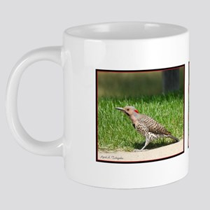 Day 6 Common Flicker Woodpe 20 oz Ceramic Mega Mug