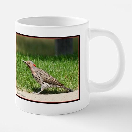 Day 6 Common Flicker Woodpe 20 oz Ceramic Mega Mug
