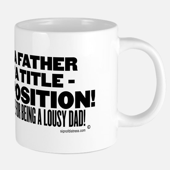 being a father is not a tit 20 oz Ceramic Mega Mug
