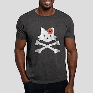 Hibiscus Kitty X-Bones Dark T-Shirt