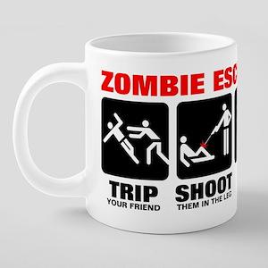 zombie-escape-plan-RED2-MUG 20 oz Ceramic Mega Mug