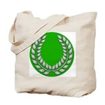 Green with Silver Laurel Tote Bag