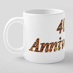 40thanniversary8w 20 oz Ceramic Mega Mug