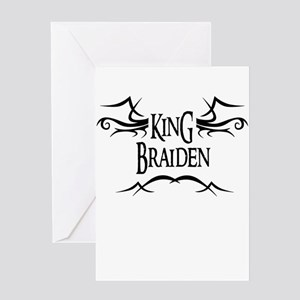 King Braiden Greeting Card