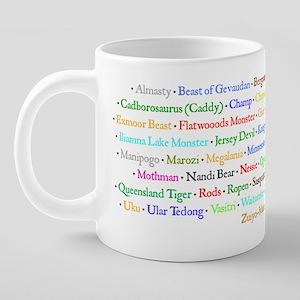 cryptid list mug 20 oz Ceramic Mega Mug