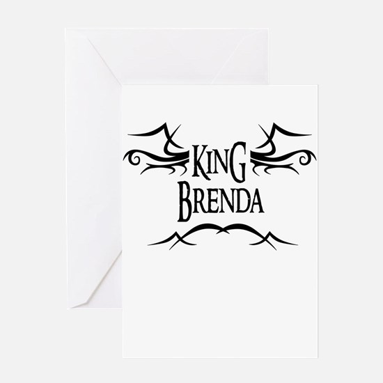 King Brenda Greeting Card