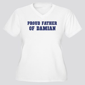 Proud Father of Damian Women's Plus Size V-Neck T-